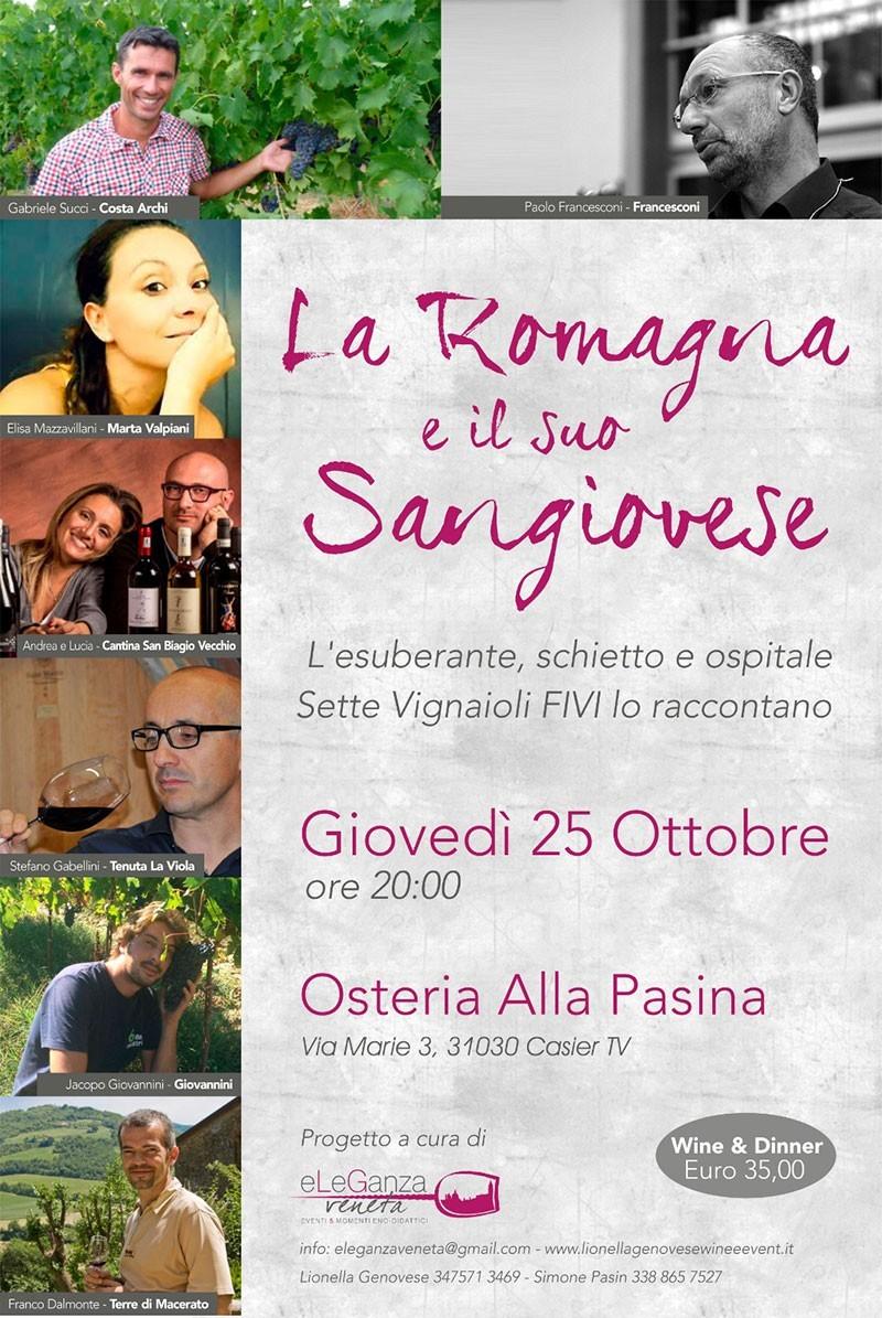 Evento 25 ottobre - La Romagna e il suo Sangiovese