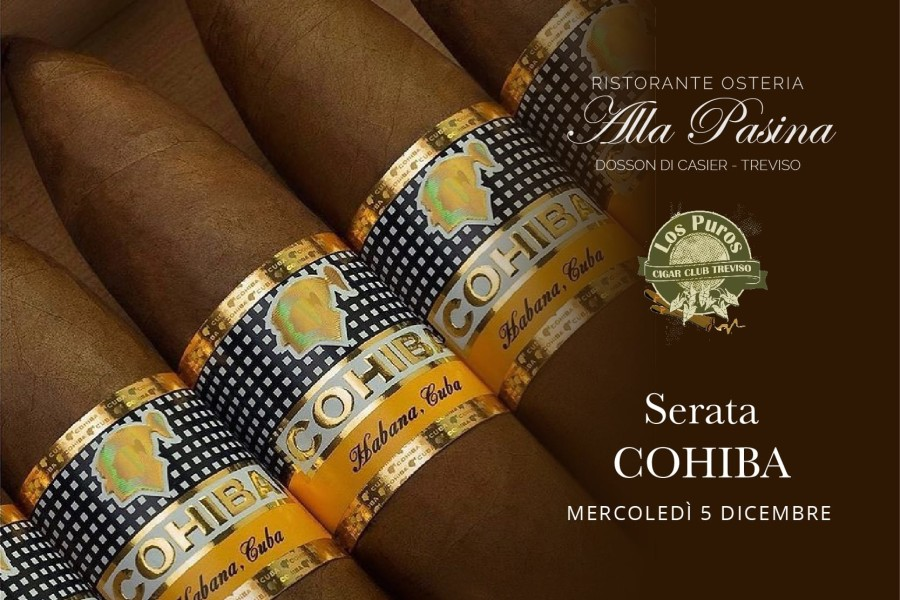 Serata sigari Cohiba